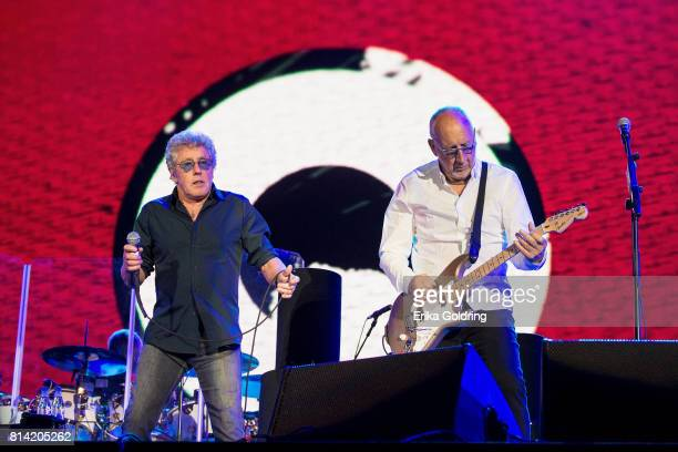 Roger Daltrey and Pete Townshend of The Who perform at Festival d'ete de Quebec on July 13 2017 in Quebec City Canada
