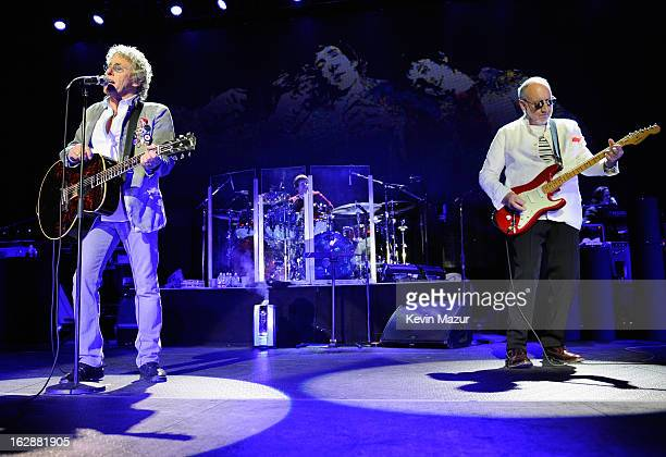 Roger Daltrey and Pete Townshend of The Who perform during the Who Cares Benefit For Teen Cancer America Memorial SloanKettering Cancer Center at The...