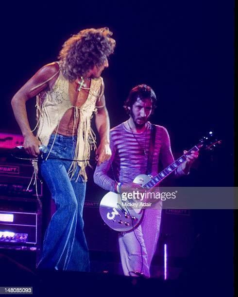 Roger Daltrey and Pete Townshend perform with The Who at The Gator Bowl in Jacksonville FL on August 7 1976