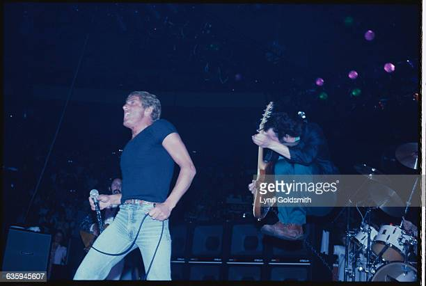 Roger Daltrey and Pete Townshend Performing