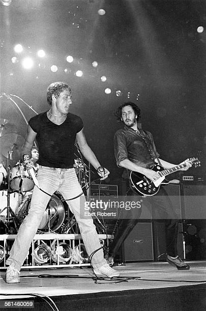 Roger Daltrey and Pete Townshend performing with The Who at Madison Square Garden in New York City on September 16 1979