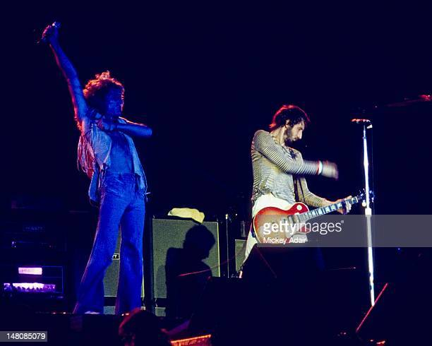 Roger Daltrey and Pete Townshend performs with The Who at The Gator Bowl in Jacksonville FL on August 7 1976