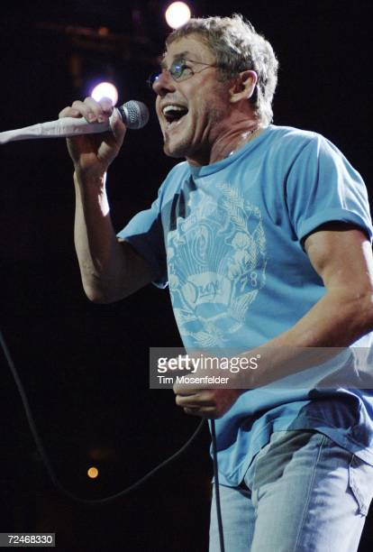 Roger Daltrey and The Who perform in support of the bands Endless Wire release at the HP Pavilion on November 8 2006 in San Jose California