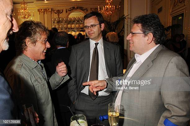 Roger Daltrey Andy Coulson and Lucian Grainge attend the Lucian Grainge VIP Party on June 15 2010 in London England