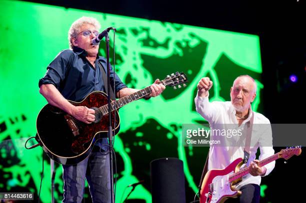 Roger Daltrey CBE and Pete Townshend of The Who perform on the opening night of the bands North American 2017 tour headlining Day 8 of the 50th...