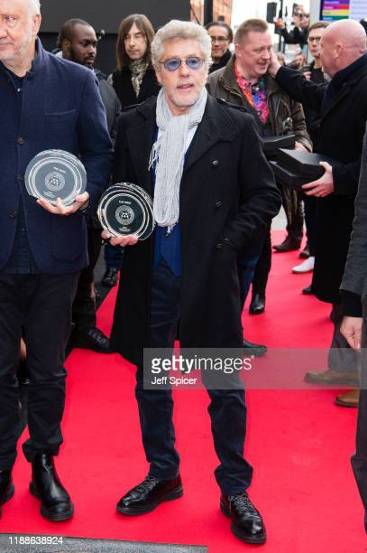 Roger Daltrey from The Who attends the Music Walk Of Fame Founding Stone Unveiling at The Jazz Cafe on November 19 2019 in London England