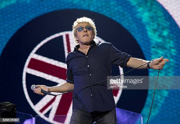 Roger Daltrey from the Who headlines the Isle Of Wight Festival 2016 at Seaclose Park on June 11, 2016 in Newport, Isle of Wight.