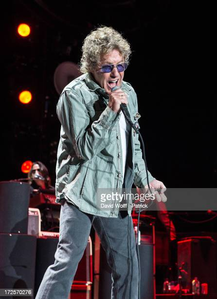 Roger Daltrey from The Who performs at Palais Omnisports de Bercy on July 3 2013 in Paris France