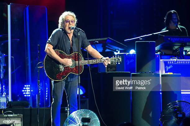 Roger Daltrey from The Who performs at Zenith de Paris on June 30, 2015 in Paris, France.