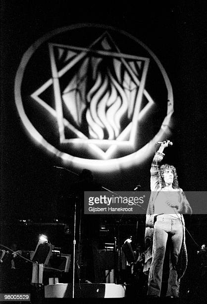 Roger Daltrey from The Who performs part of the Rock Opera Tommy at The Rainbow Theatre in Finsbury Park London on December 09 1972