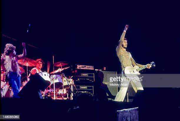 Roger Daltrey Keith Moon Pete Townshend perform with The Who at The Gator Bowl in Jacksonville FL on August 7 1976
