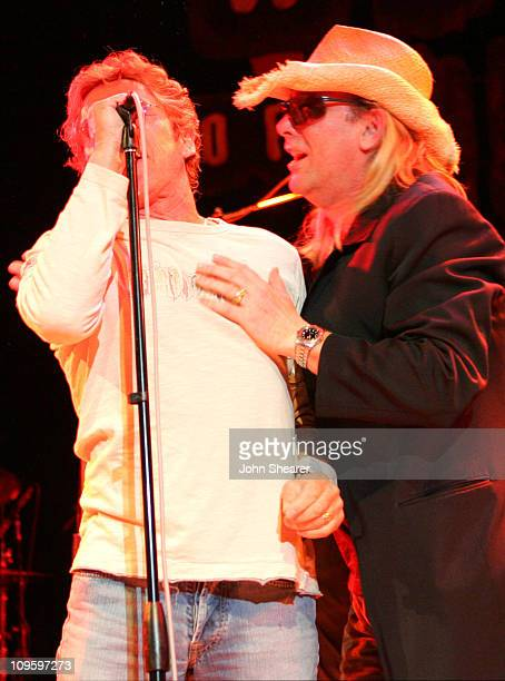 Roger Daltrey of The Who and Robin Zander of Cheap Trick