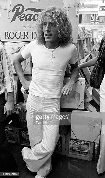 Roger Daltrey of The Who at Peaches Records promoting his solo album Ride a Rock Horse