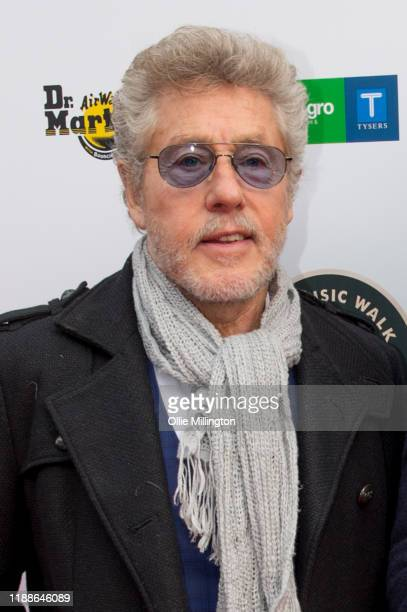 Roger Daltrey of The Who attends their Music Walk Of Fame for their Founding Stone Unveiling on Camden High Street on November 19 2019 in London...