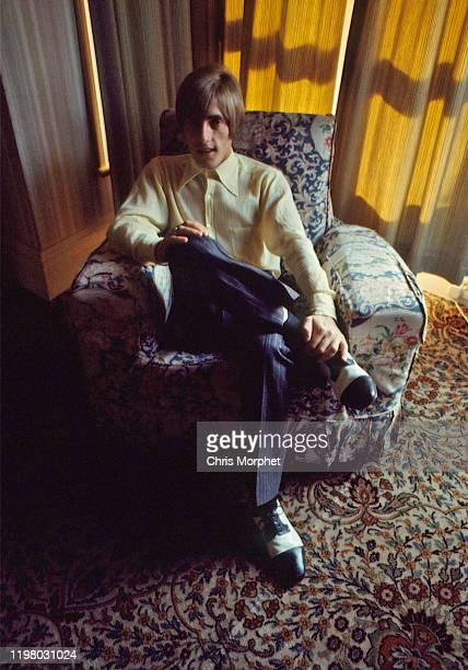 Roger Daltrey of the Who backstage at the Pier Pavilion in Felixstowe, United Kingdom, 9th September 1966.