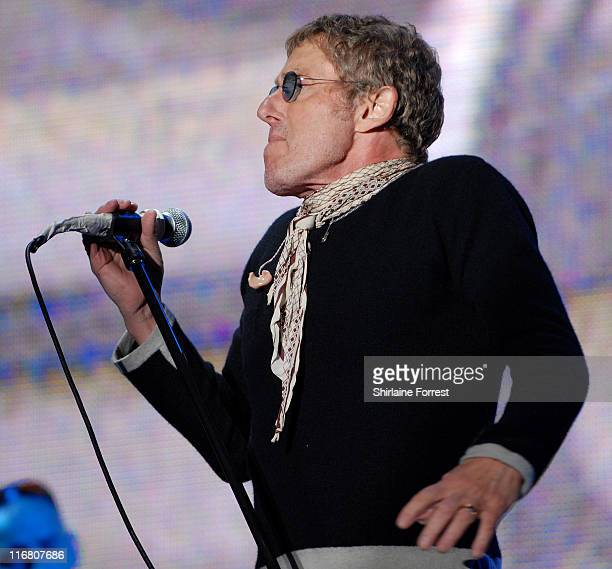 Roger Daltrey of The Who during 2007 Glastonbury Festival - Day 3 at Worthy Farm in Pilton, Somerset.