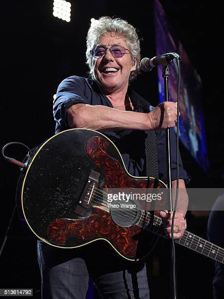 Roger Daltrey of The Who In Concert New York NY at Madison Square Garden on March 3 2016 in New York City