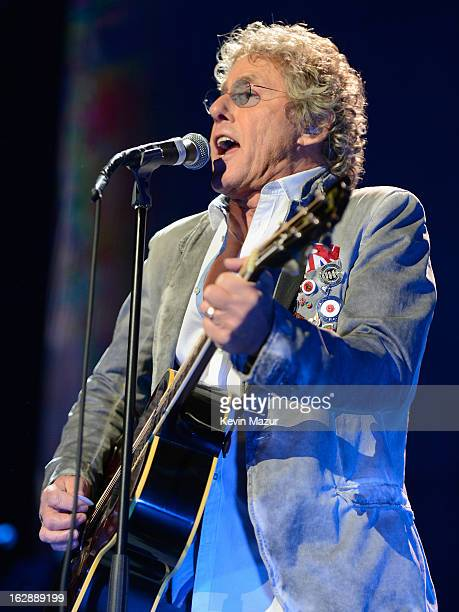 Roger Daltrey of The Who performs during the Who Cares Benefit For Teen Cancer America Memorial SloanKettering Cancer Center at The Theater at...
