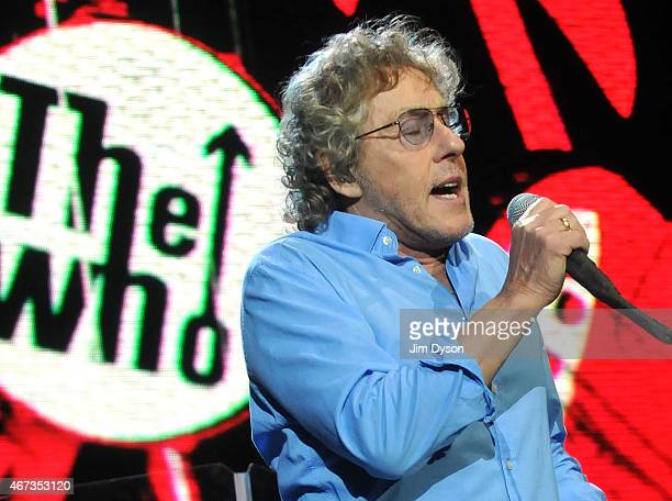 Roger Daltrey of The Who performs live on stage during the The Who Hits 50! Tour at The O2 Arena on March 22, 2015 in London, England.