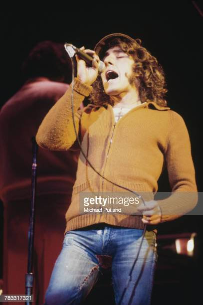 Roger Daltrey of The Who performs on stage at rehearsals for the stage version of the Who's rock opera 'Tommy' at the Rainbow Theatre London 9th...