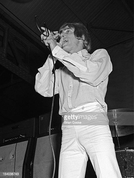 Roger Daltrey of The Who performs on stage at the Queen's Hall Leeds on 14th October 1966.
