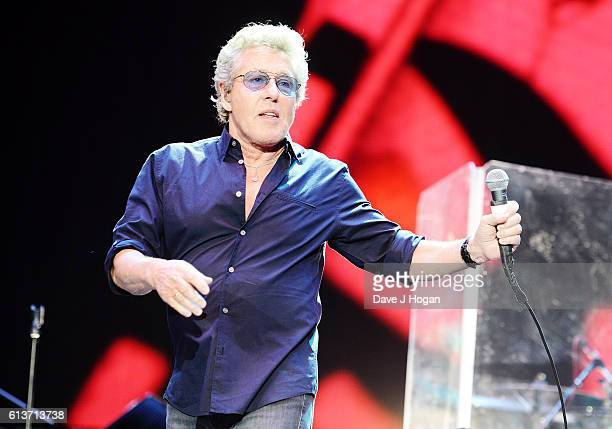 Roger Daltrey of The Who performs on stage during Desert Trip at The Empire Polo Club on October 9 2016 in Indio California