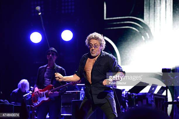 Roger Daltrey of The Who performs onstage during their Hits 50 North American tour at Barclays Center of Brooklyn on May 26 2015 in New York City