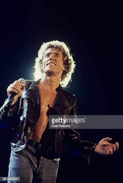 Roger Daltrey performing with The Who at Giants Stadium in East Rutherford, New Jersey on July 3, 1989.