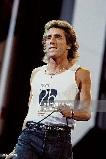 Roger Daltrey performing with The Who in Buffalo New York on July 18 1989