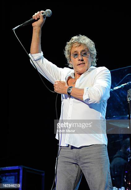 Roger Daltrey performs at Nassau Coliseum, Long Island on February 21, 2013 in New York City.
