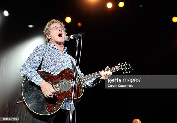 Roger Daltrey performs onstage during 'A Concert For Killing Cancer' at Hammersmith Apollo on January 13, 2011 in London, England.