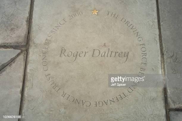 Roger Daltrey's star at the Royal Albert Hall 'Walk Of Fame' at Royal Albert Hall on September 4 2018 in London England
