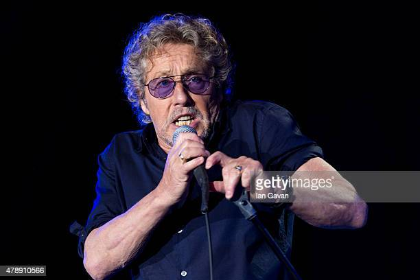 Roger Daltry of The Who performs on the Pyramid Stage at the Glastonbury Festival at Worthy Farm Pilton on June 28 2015 in Glastonbury England Now...