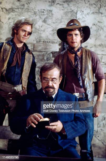 Roger Davis, Ben Murphy, Burl Ives appearing on the ABC tv series 'Alias Smith and Jones'.