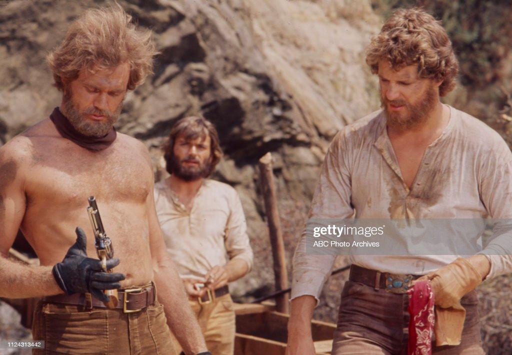 Roger Davis, Pete Duel, Ben Murphy Appearing In 'Alias Smith And Jones' : News Photo