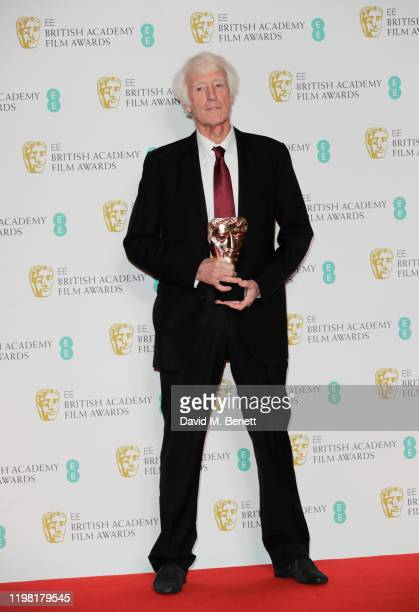 """Roger Deakins, winner of Best Cinematography for """"1917"""", poses in the Winners Room at the EE British Academy Film Awards 2020 at Royal Albert Hall on..."""