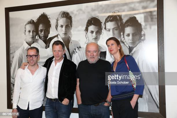 Roger Diederen director Kunsthalle Muenchen ThierryMaxime Loriot Photographer Peter Lindbergh and Emily Ansenk director Kunsthalle Rotterdam during...
