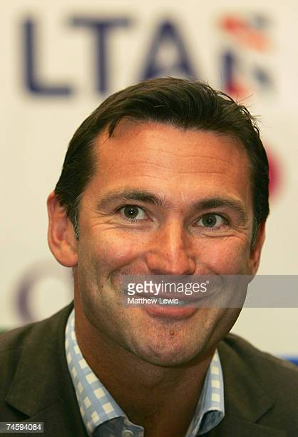 Roger Draper Chief Executive of the Lawn Tennis Association speaks to the media during the DFS Classic at Edgbaston Priory Club on June 14 2007 in...
