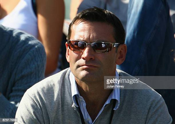 Roger Draper Chief of the LTA watches on during day one of the Davis Cup World Group Playoff tie between Great Britain and Austria at Wimbledon the...