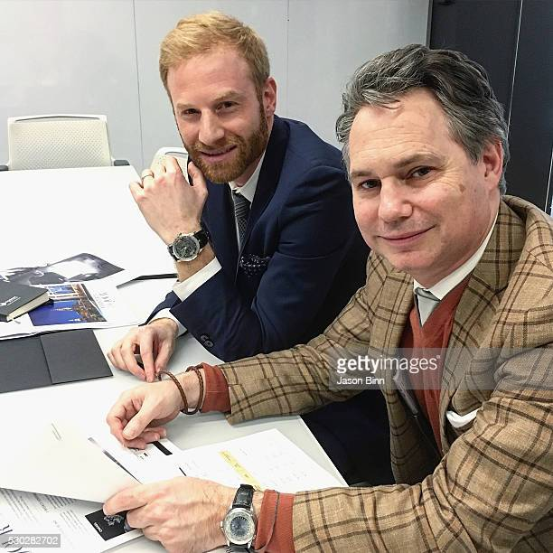 Roger Dubuis and Jason Binn circa March 2016 in New York City