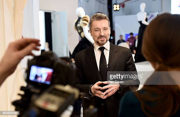 Roger Dubuis CEO JeanMarc PontrouŽ is interviewed at the Roger Dubuis stand during the SIHH 2016 on January 18 2016 in Geneva Switzerland