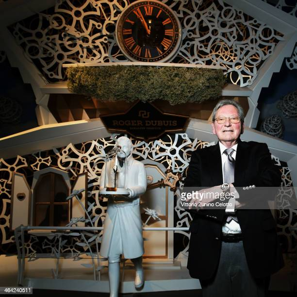 Roger Dubuis poses during Roger Dubuis at the SIHH 2014 day 2 on January 21 2014 in Geneva Switzerland
