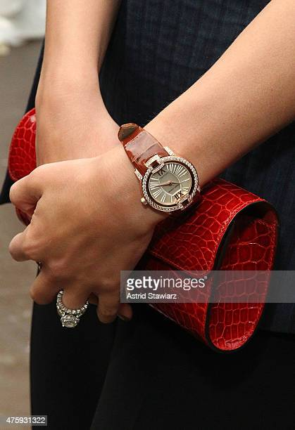 Roger Dubuis watches are displayed during the Roger Dubuis 20th Anniversary held at the Pennisula Hotel on June 4 2015 in New York City