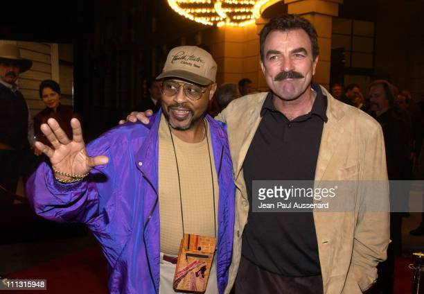 Roger E Mosley and actor/executive producer Tom Selleck