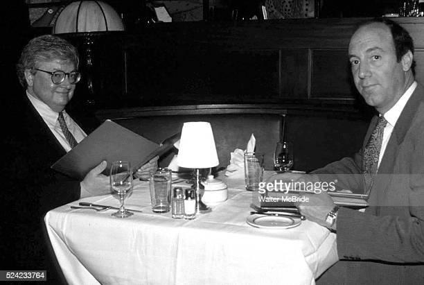 Roger Ebert Gene Siskel dinning at the Brown Derby Restaurant Walt Disney World Florida in 1990