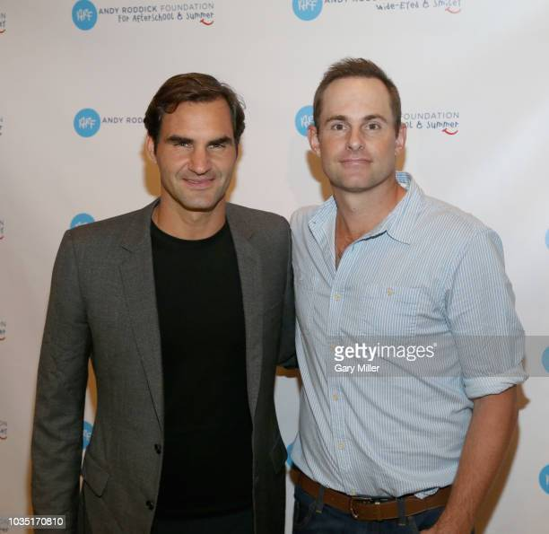 Roger Federer attends the 'Roger Federer Comes To Austin event benefitting the Andy Roddick Foundation at the Paramount Theatre on September 17 2018...