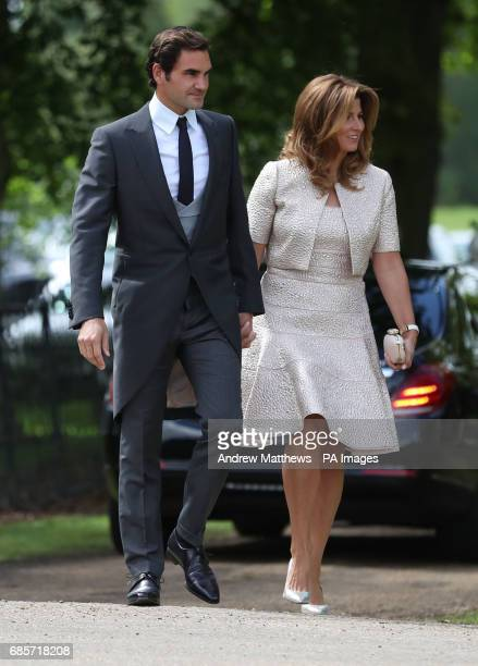 Roger Federer and his wife Mirka arrive ahead of the wedding of the Duchess of Cambridge's sister Pippa Middleton to her millionaire groom James...