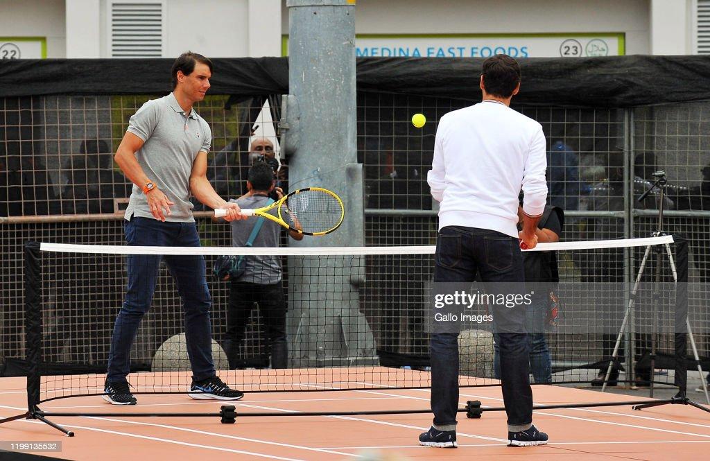 The Match in Africa: Roger Federer v Rafael Nadal Photoshoot : News Photo