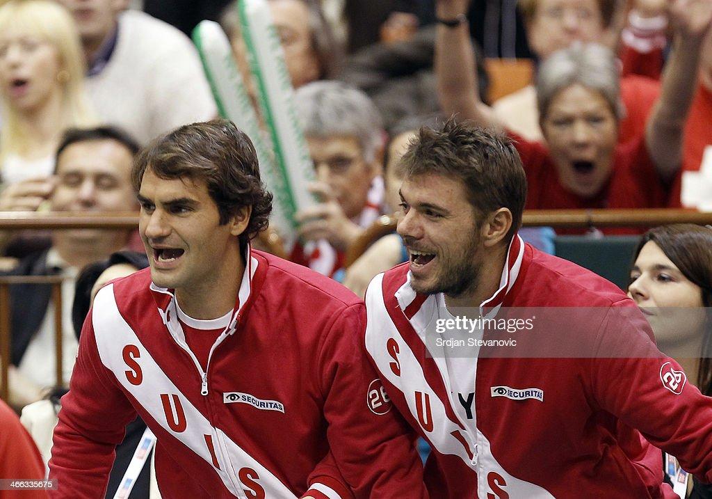 Davis Cup: Serbia v Switzerland - Day 2 : News Photo