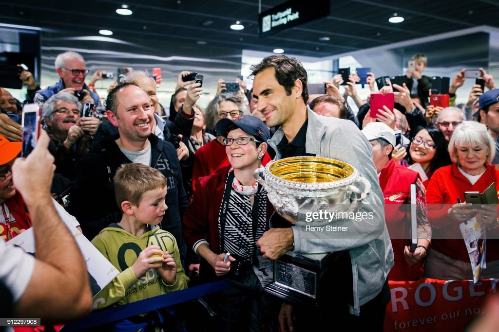 Roger Federer Arrives In Zurich : News Photo